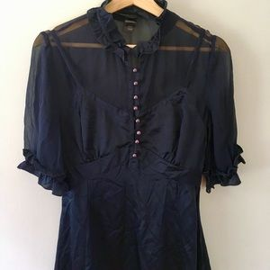 Silk Marc Jacobs dress with sheer sleeves